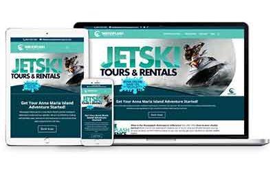 Wavesplash Watersports Website Design | Anna Maria Island, Florida