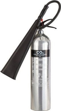 chrome co2 fire extinguisher