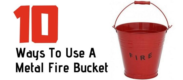 metal fire bucket