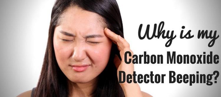 carbon monoxide detector beeping