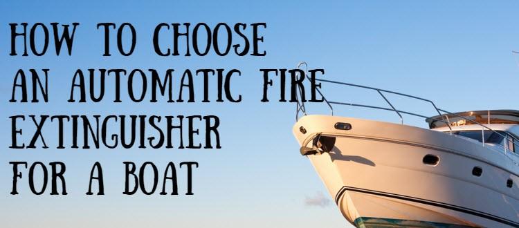 boat automatic extinguisher