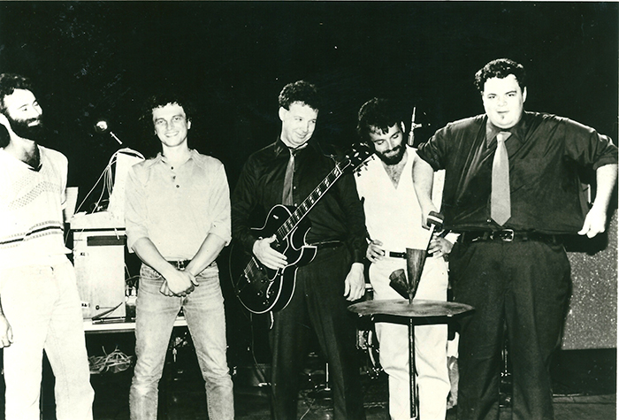 Pere Ubu 1980 Standing On Stage L To R Allen