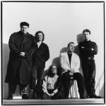 Pere Ubu May 1991.  (l to r) David Thomas, Scott Krauss, Eric Drew Feldman, Jim Jones, Tony Maimone.