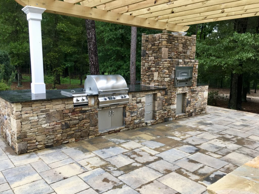 Outdoor Kitchen: Built-in Gas Pizza Oven - Fireside ... on Outdoor Patio With Pizza Oven  id=21087