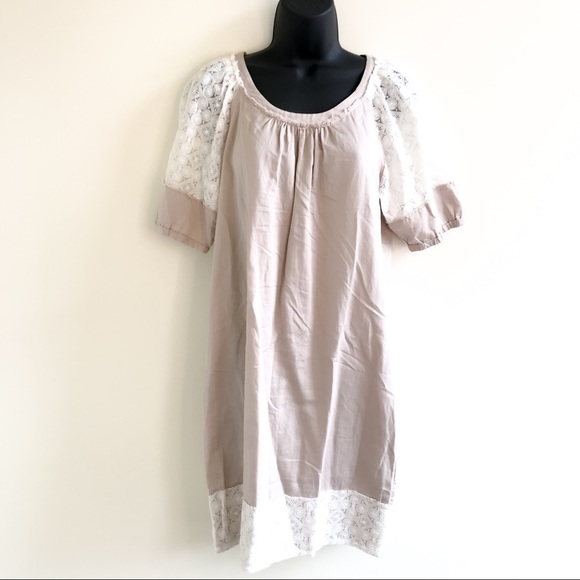 Banana Republic Heritage collection raw edge lace shift dress Size 6