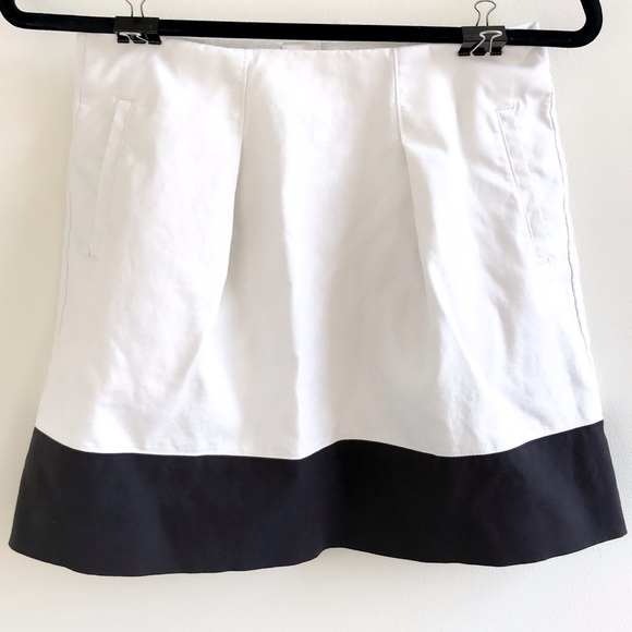 J. Crew ivory & black color block skirt size 0