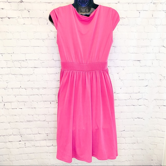 Laundry by design pink knit fit & flair dress size 8