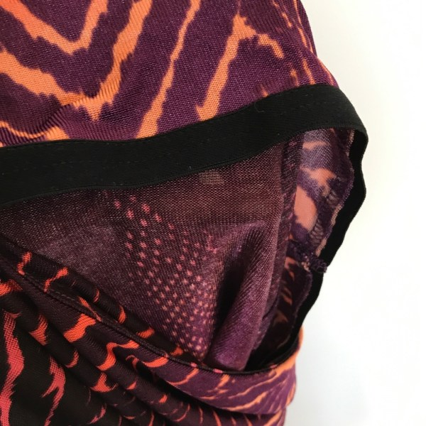 Bisou Bisou purple animal print one shoulder top size small