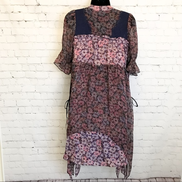 Coach 1941 mini tiered dress with lacing size 0