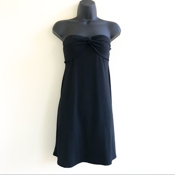 Kenneth Cole Reaction black strapless twist front dress size small