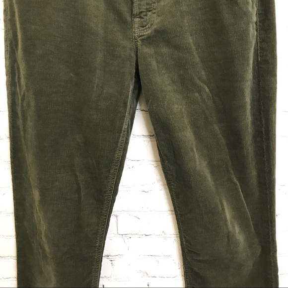 Mother jeans The Dropout hopscotch olive green corduroy ankle pants size 26