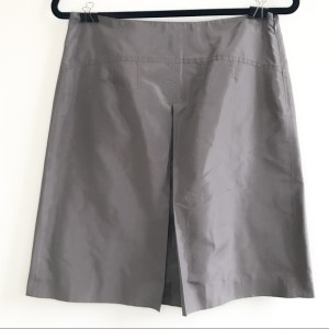 J. Crew silk taffeta a-line knee length light bronzed gray skirt size 4
