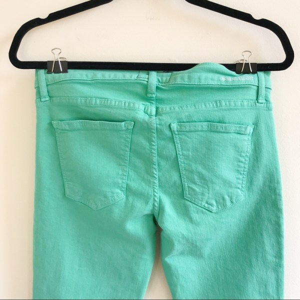 Current/ Elliot The Ankle Skinny winter green jeans size 0