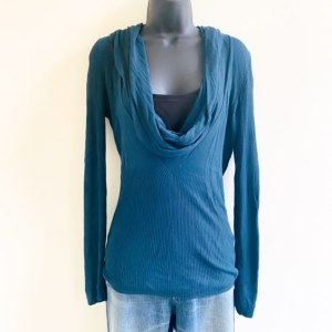 The limited deep teal lightweight drop neck sweater medium