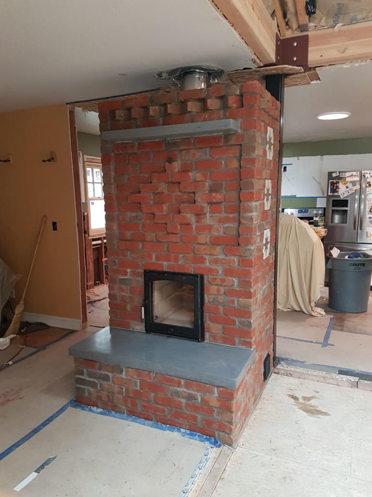 Decorative Brick Tile Masonry Heater Firespeaking