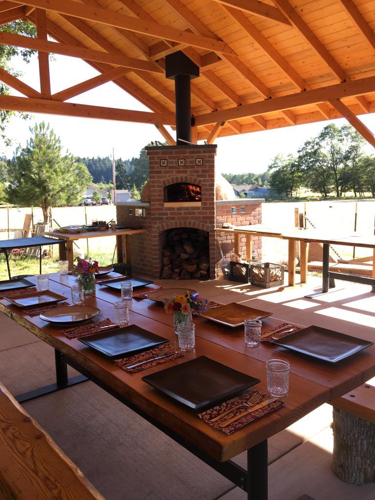 Long Table Farm Outdoor Kitchen Firespeaking