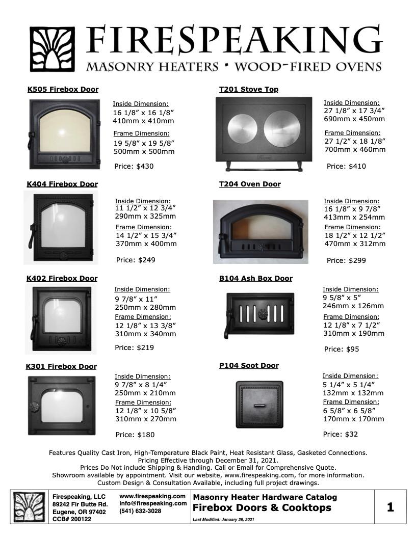 Heater Hardware Catalog - 1