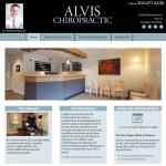 ALVIS_Chiropractic client website management services portfolio.