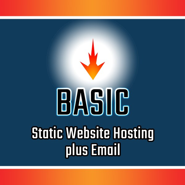 Basic Static Site Web Hosting plus Email
