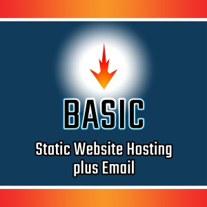 Basic Static Site Web Hosting plus Email