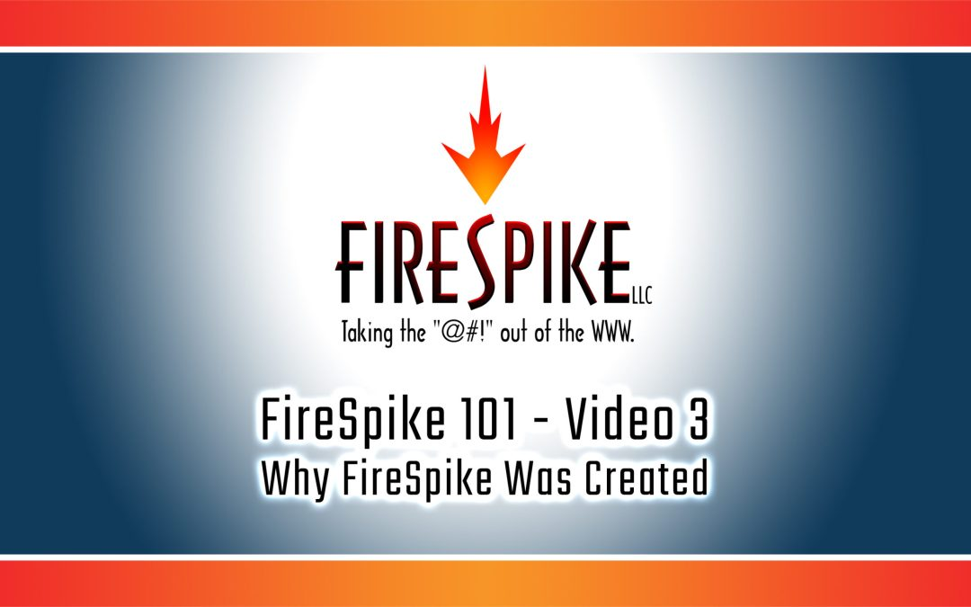 FireSpike 101, Video 3 – Why FireSpike Was Created