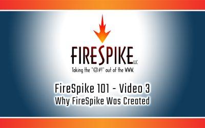 FireSpike 101, Video 3 – Why FireSpike Was Created