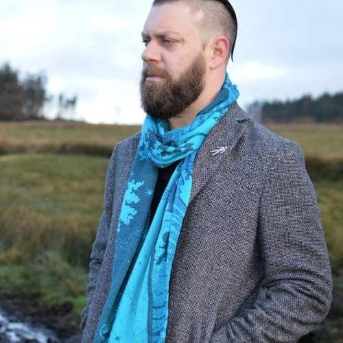 nights watch cyano seafoam scarf