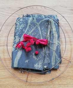 wrap scrap rag wreath