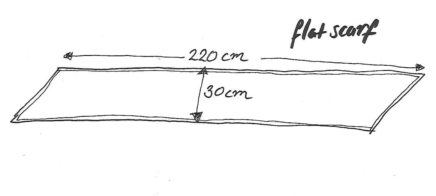 flat scarf diagram