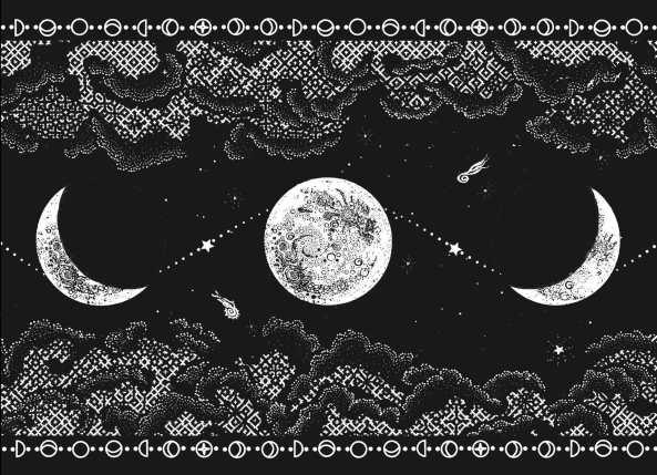 Nocturne blanket mockup