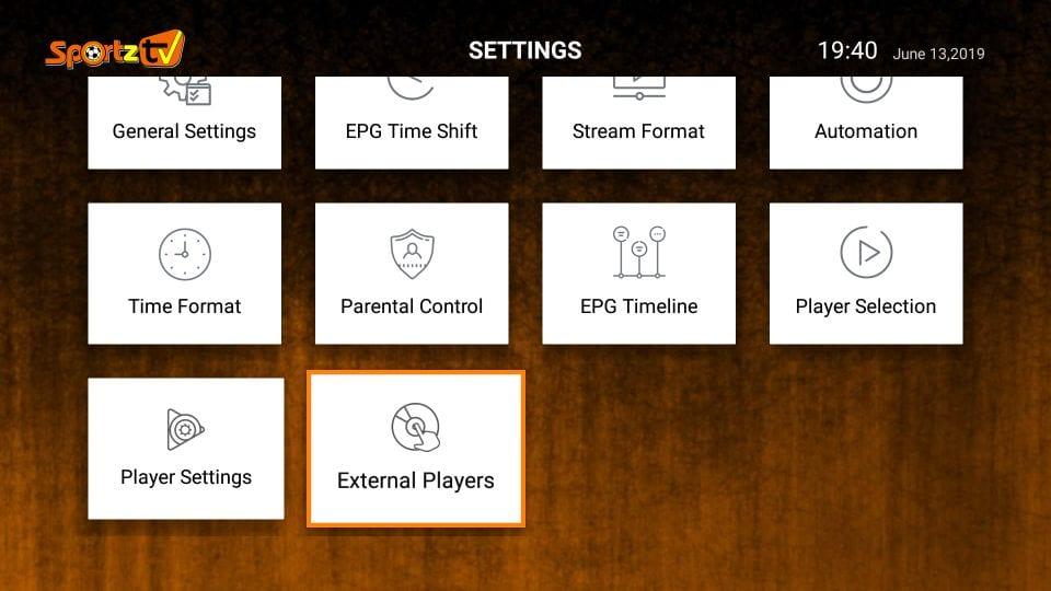 sportz tv iptv settings