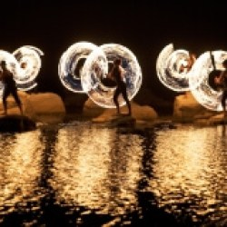 FireTribe fire dancing performance Cape Town South Africa entertainment