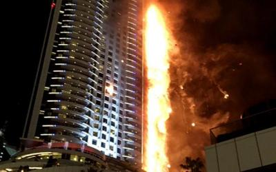 Skyscraper blaze in Persian Gulf raises questions about safety