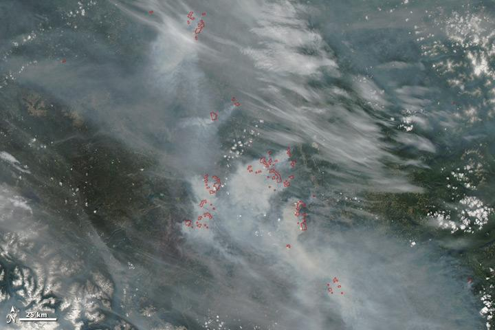 bc wildfires from space