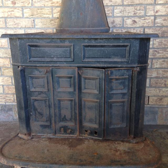 Franklin Wood Stove Antique Fireplace