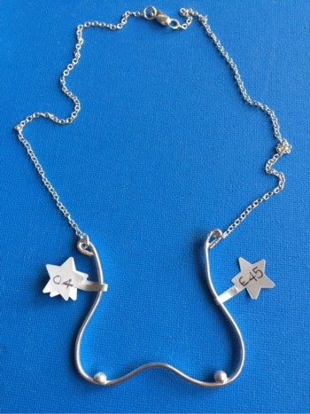 Starfish Boobs necklace with chain