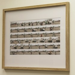 Tom Neill - Berlin Cyclists framed print