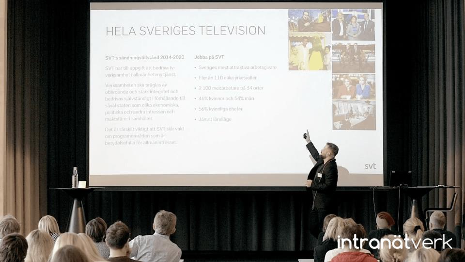 Intranätverk 2017 - Så skapade SVT energi i arbetet med sitt nya intranät fjärrkontrollen