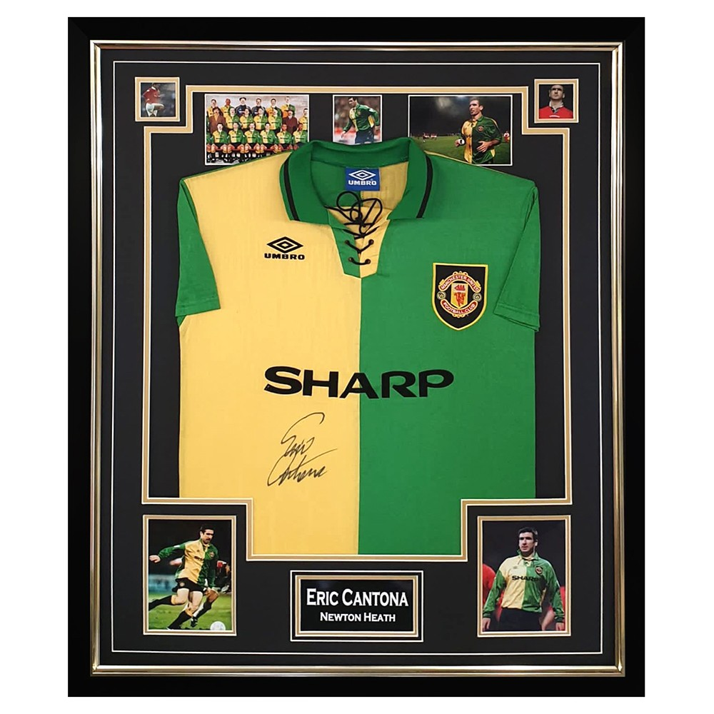 Find a big selection of leeds united football shirts and souvenirs at. Signed Eric Cantona Jersey Framed Newton Heath Shirt Firma Stella