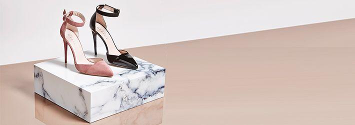 Care de pe ShopAlert - Perechea de pantofi stiletto rosii, negri sau albastri