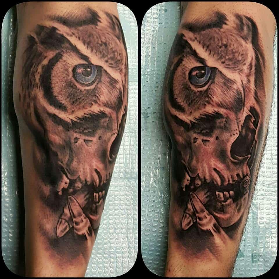 Owl Sleeve Tattoo - Firme Copias