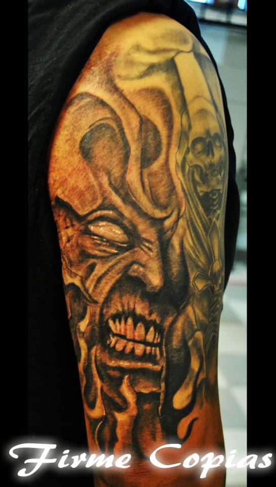 Demon Custom Tattoo - Firme Copias