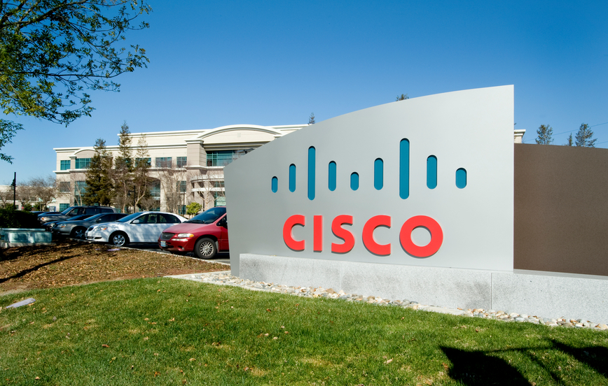San Jose, CA, USA - February 22, 2011:Entry monument, Cisco Systems corporate campus and world headquarters, Silicon Valley. Cisco is where the router and server were perfected, igniting the internet revolution.