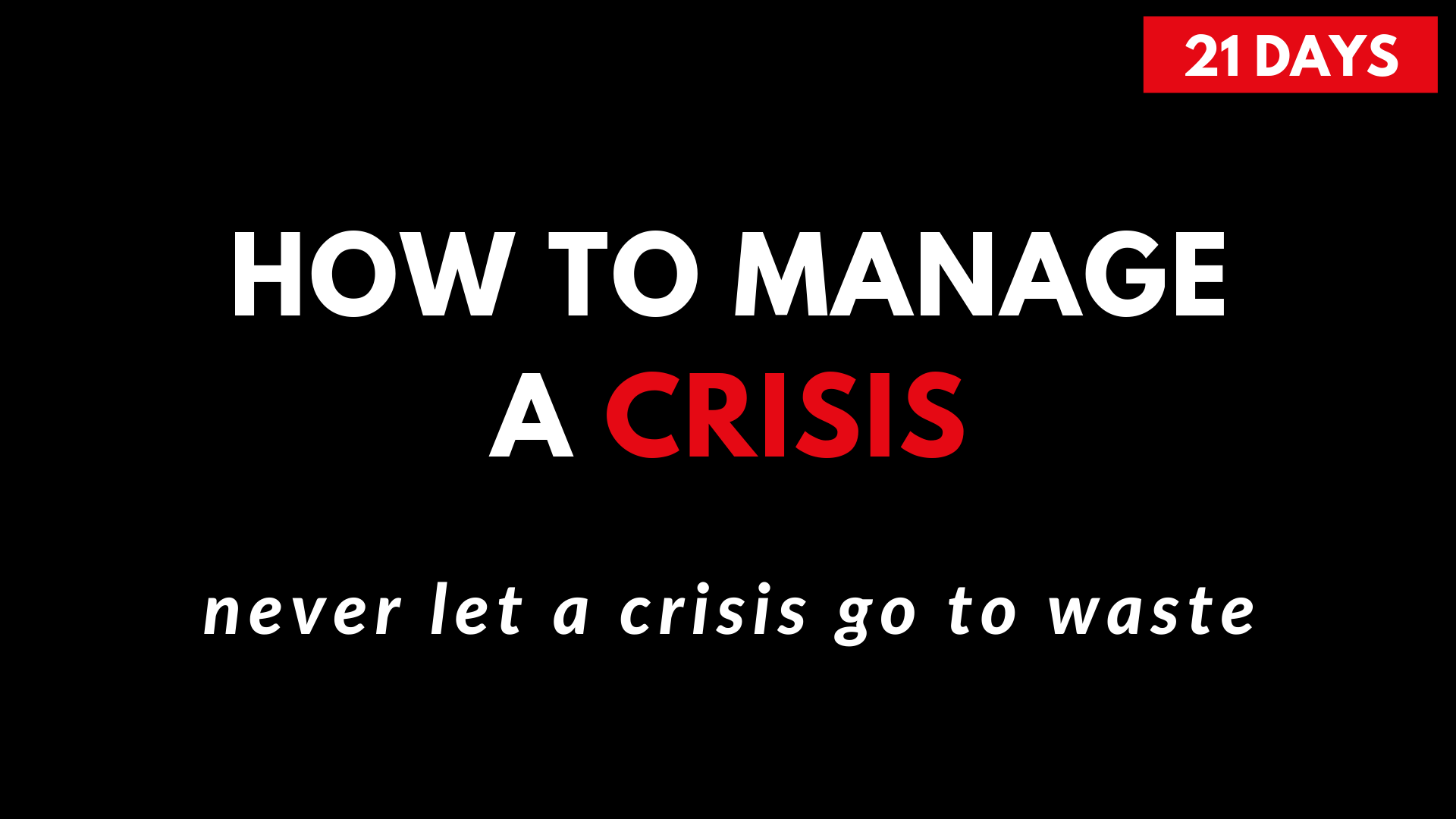how to prepare for a recession crisis
