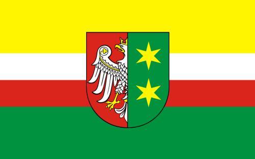 flaga województwa lubuskiego