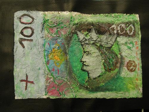 malowany banknot