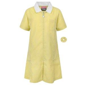 Gold/White Gingham Dress