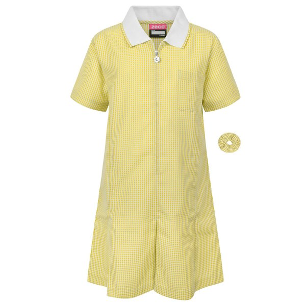 Gold/White Gingham Dress