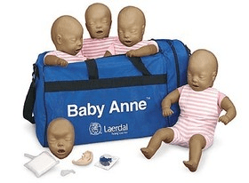 Laerdal Baby Anne Dark Skin CPR Manikin – (Pack of Four)