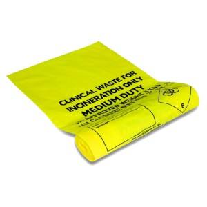 clinical waste sacks pack of 100